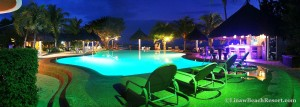Linaw Beach Resort Pool at Night